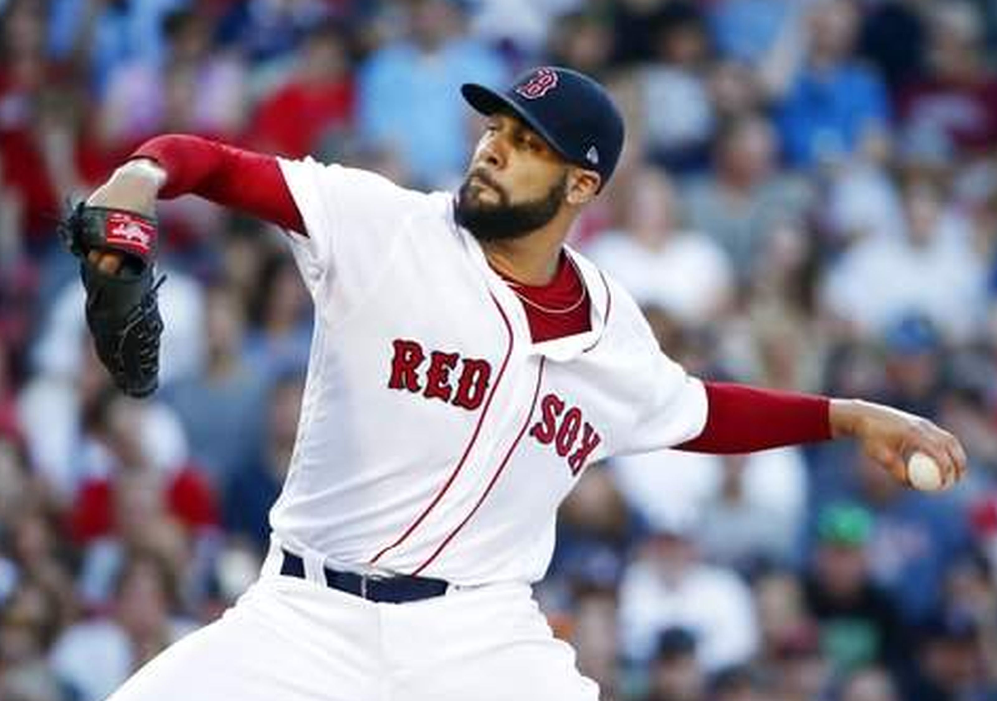 Red Sox right-hander David Price throws a pitch during the first inning of a game against the Los Angeles Angels at Fenway Park on Saturday night. AP WIREPHOTO/Michael Dwyer