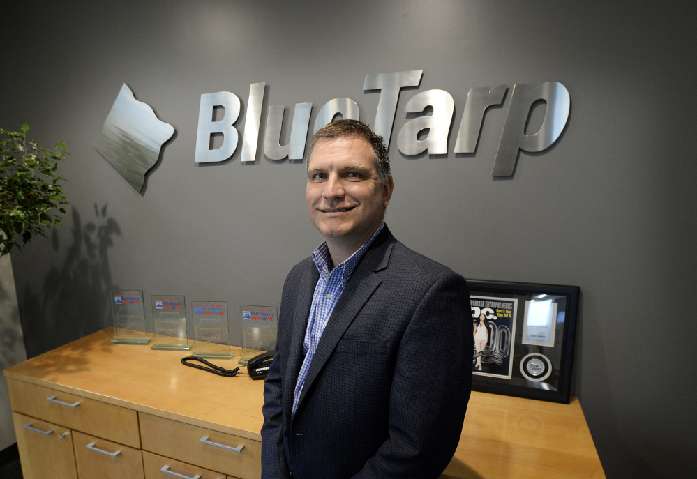 Shawn Cunningham, BlueTarp Financial's chief operating officer, says BlueTarp's business model is similar to that of Wex Inc., the South Portland payment processor. He expects the firm to grow by 50 percent in 2018.