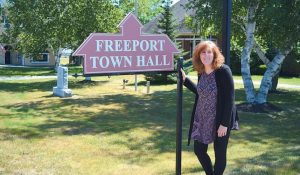 NEXT MONTH, Mary Howe will become the town clerk of Woolwich, following nine years as deputy town clerk in Freeport.