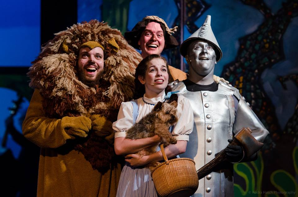 "Biddeford City Theater's cast of ""The Wizard of Oz"" includes: Brie Roche as Dorothy, Justin Stebbins as Scarecrow, Brian McAloon as Tin Man and Schuyler White as The Lion. SUBMITTED PHOTO/Courtesy of audrahatch.com"