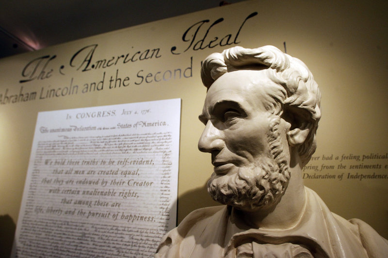 "Our forefathers in 1776 defined America as a set of beliefs. In 1863, Abraham Lincoln's famous Gettysburg Address reaffirmed that our Civil War tested whether ""any nation so conceived ... can long endure."""