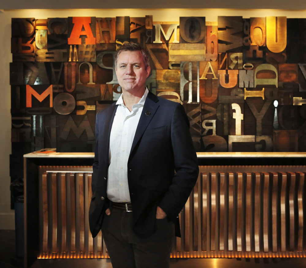 Developer Jim Brady, who created The Press Hotel in the former Press Herald building, has launched a new hospitality enterprise called Fathom Cos.