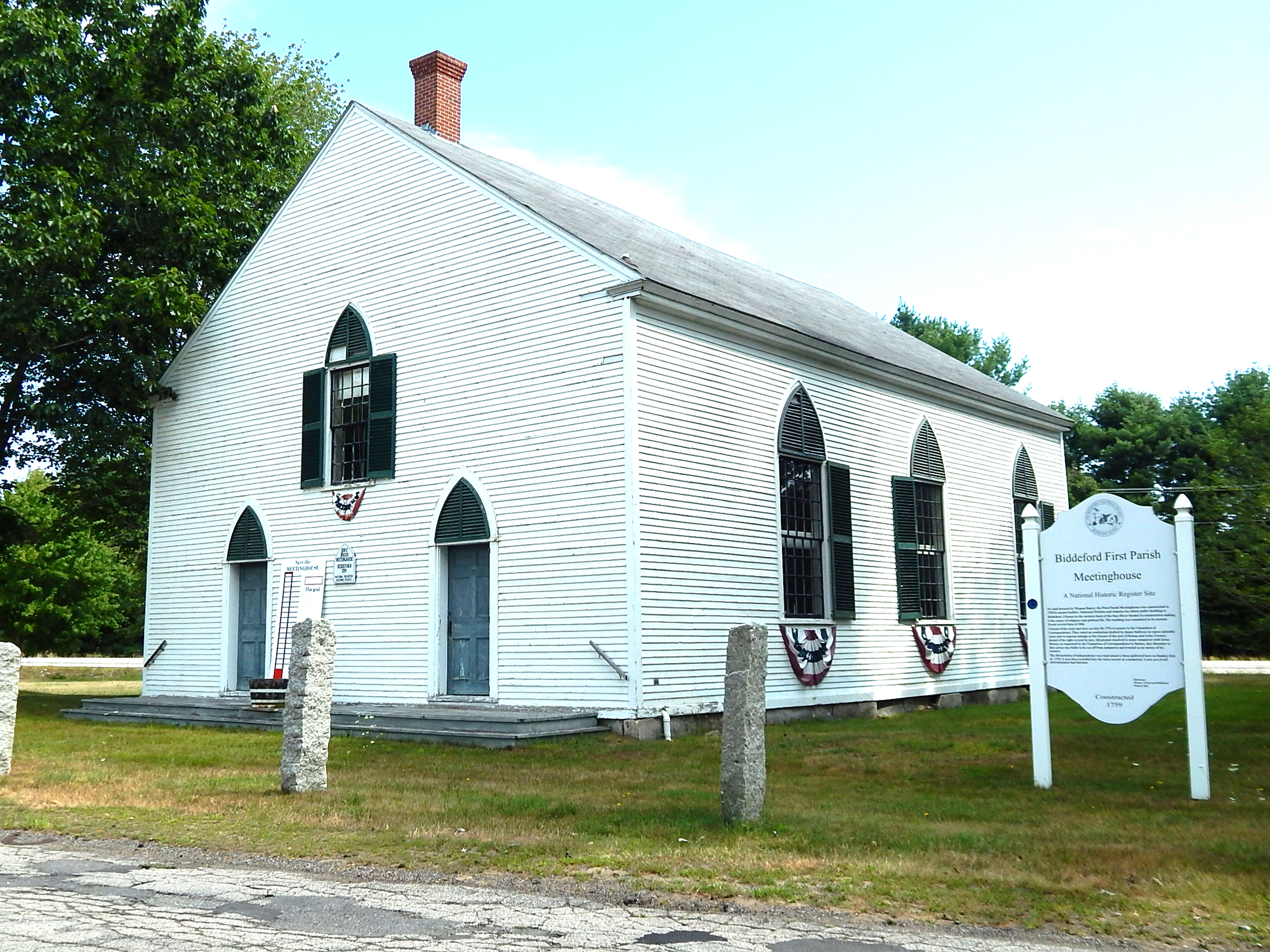 Biddeford's First Parish Meetinghouse was built in 1759 and is the oldest public building in Biddeford. A new capital campaign has been launched to preserve the structure for future generations. ED PIERCE/Journal Tribune
