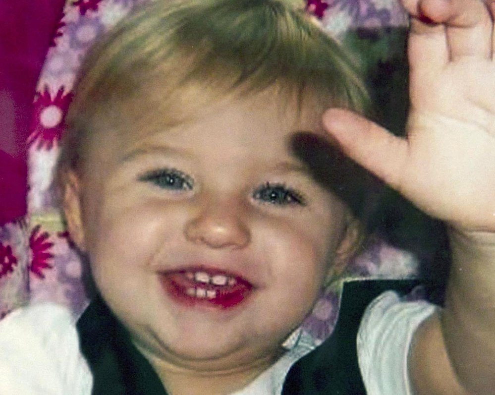 This undated file photo provided by Trista Reynolds shows Ayla Reynolds, her two-year-old daughter, who went missing on Dec. 17, 2011, from her father's home in Waterville. Trista Reynolds awaits a decision by probate Judge Joseph Mazziotti in Cumberland County whether to declare Ayla dead, which will open the way for filing a wrongful death lawsuit against Justin DiPietro, Ayla's father, and perhaps others.