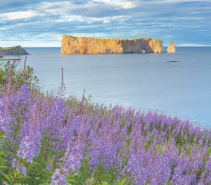 THIS PHOTO PROVIDED by Québec Maritime shows Rocher Perce from the Gaspe peninsula in Québec, Canada.