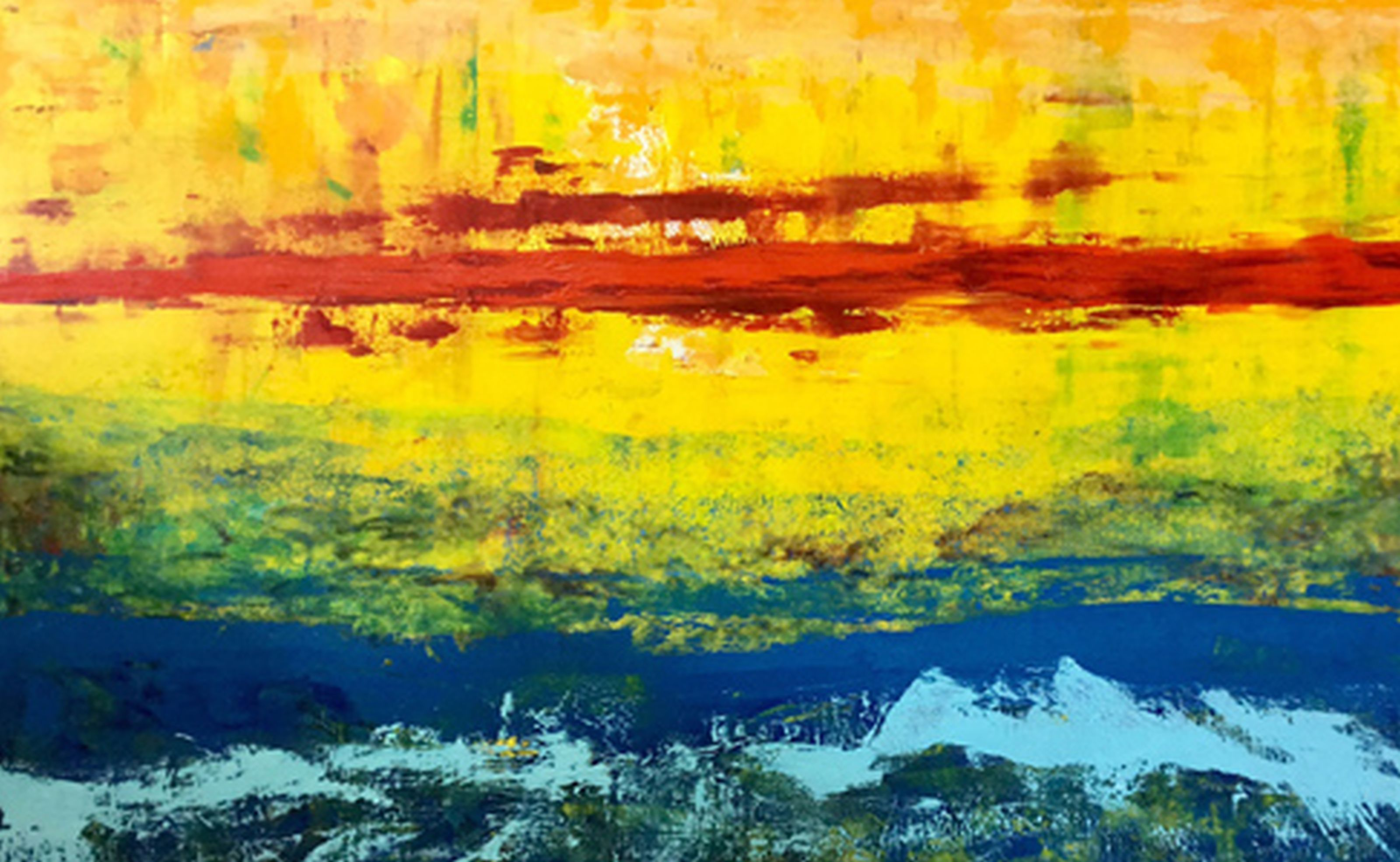 Artwork such as 'Harraseeket' an oil on canvas by Portland artist Russ Cox will be exhibited at the University of New England's Biddeford Campus Center through Oct. 2. SUBMITTED PHOTO