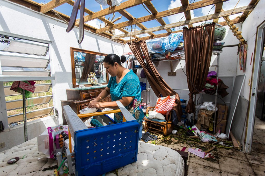 Meryanne Aldea lost everything at her house in Juncos, Puerto Rico, when the winds of Hurricane Maria ripped away the roof.
