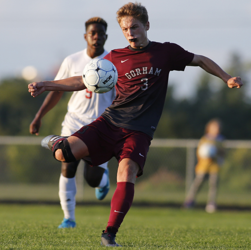 Andrew Rent may be just a sophomore, but he's already a midfield force for Gorham, which will meet Portland in a Class A South final rematch Wednesday night, with a spot in the state championship game on the line.