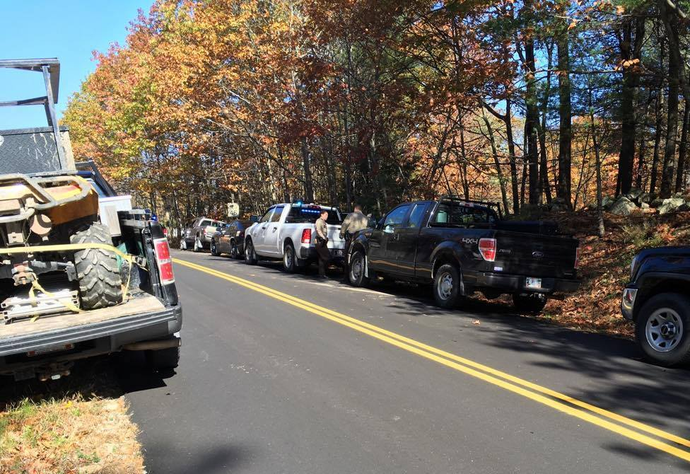 A woman was shot and killed off Greenwood Mountain Road in Hebron on Saturday morning.