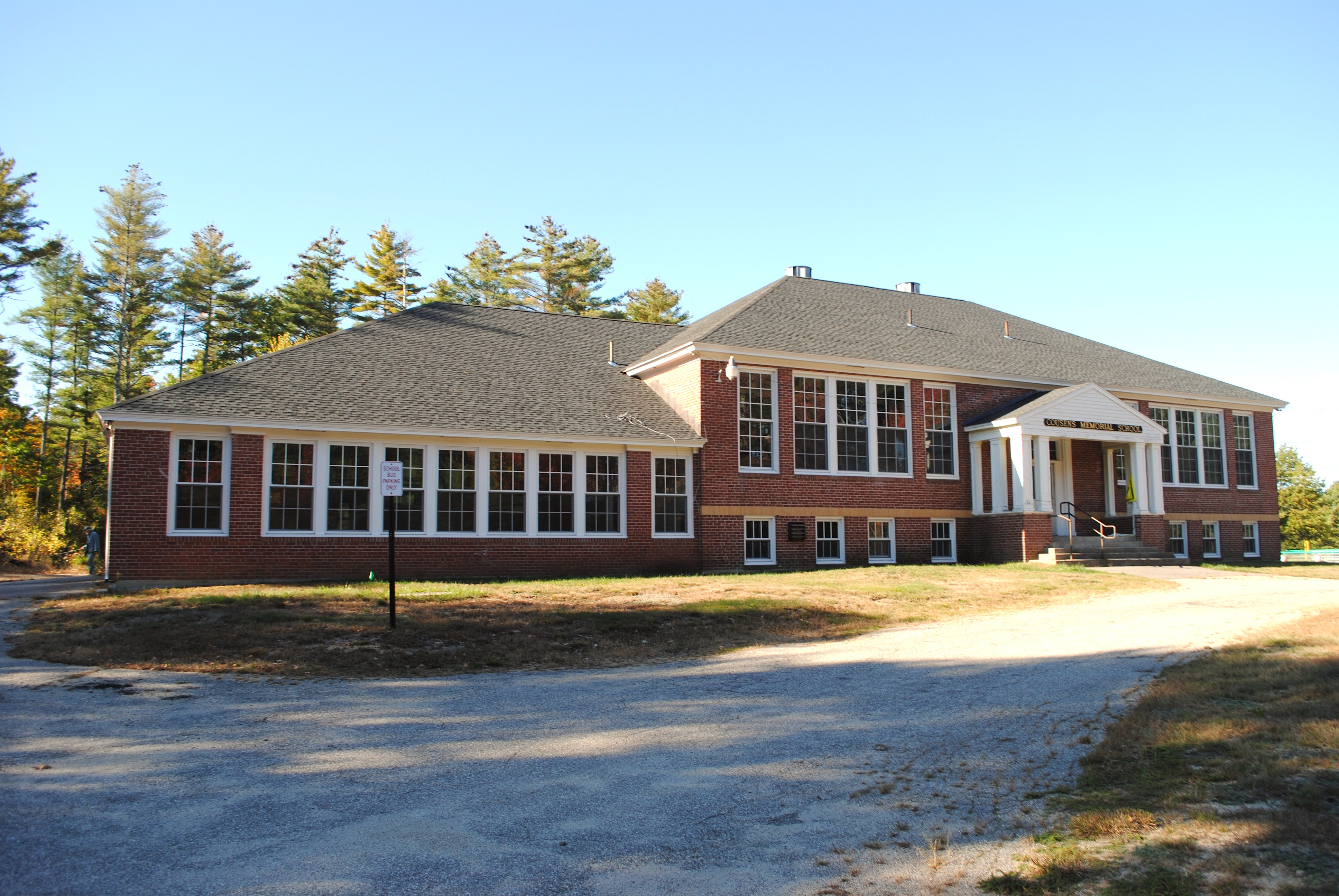 The former Cousens School in Lyman, as seen Tuesday afternoon.LIZ GOTTHELF/Journal Tribune
