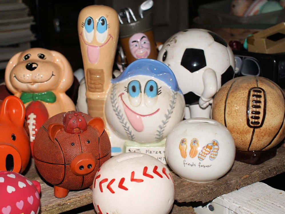 Staff ReportsA large assortment of piggy banks and cookie jars is available at a sale in Old Orchard Beach to benefit local animal groups.