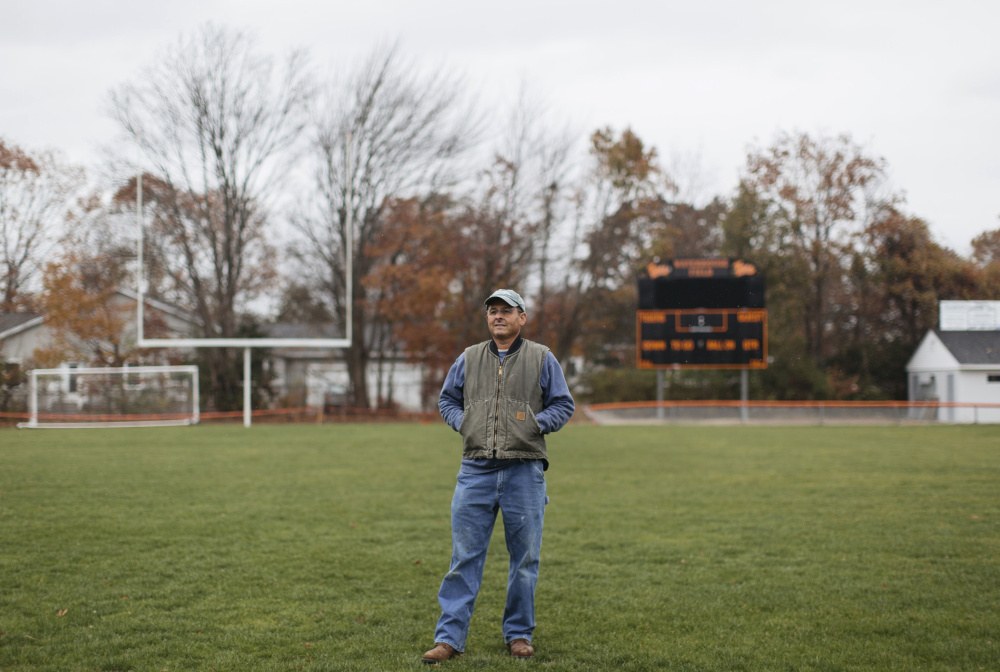 """As president of the Waterhouse Field Association in Biddeford, Jim Godbout led the charge to renovate the field. """"I wanted the kids to have a safe space to play their fall sports,"""" Godbout said. It is just one of the many ways he finds to give back to his community."""
