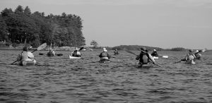 PADDLING past Pleasant Point.