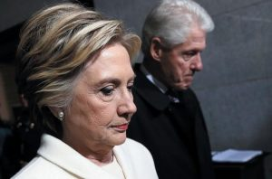 FORMER SEN. HILLARY CLINTON and former President Bill Clinton arrive on the West Front of the U.S. Capitol on Jan. 20 in Washington, for the inauguration ceremony of Donald J. Trump as the 45th president of the United States. Time has not healed the Democratic party's wounds. On Election Day 2016, Democrats suffered a devastating and shocking loss. A year later, they're still sorting through the wreckage.