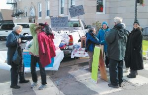 LAST YEAR, volunteers with the Bath United Methodist Church gathered in the parking lot of Bath City Hall to collect gifts to send to families in need in western Maine. This year, the church will be collecting donations on Dec. 9 from 9 a.m. to 1 p.m.