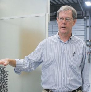"""STARC SYSTEMS COO BRUCE BICKFORD at his company's new facility at Brunswick Landing. """"We had reached the limit of what we could do here (at TechPlace),"""" said Bickford. """"It's been a great environment. It's allowed us to expand as we've needed it, without restriction. It's been a real bonus for us."""""""