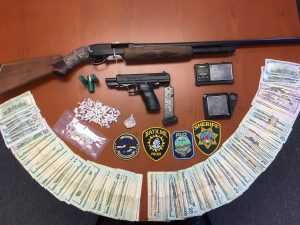 The Maine Drug Enforcement Agency has charged three people with selling heroin and crack cocaine from a Brunswick home. CONTRIBUTED PHOTO