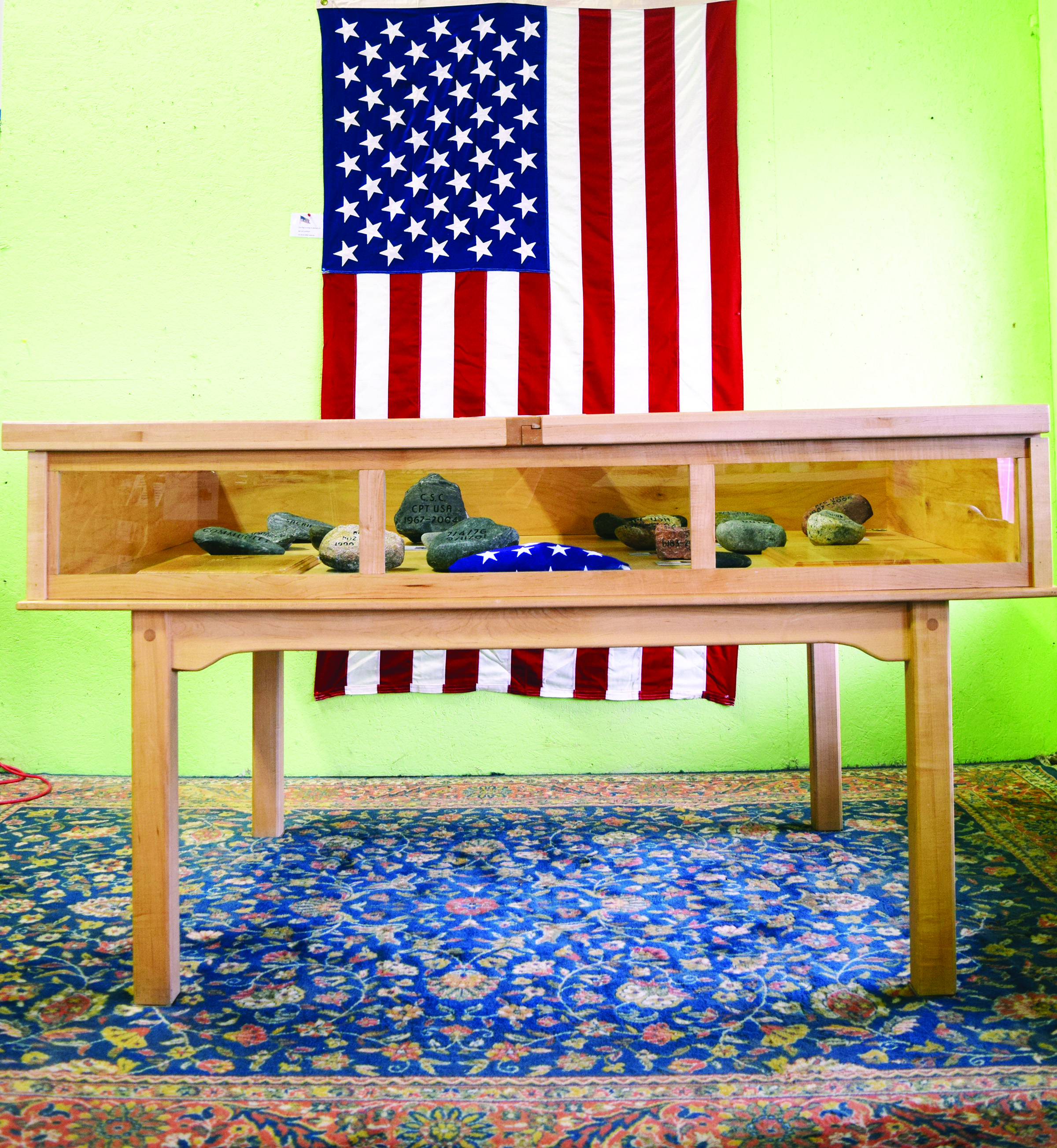 'The Honor Case,' a special tribute to fallen military members from Maine is now on display at the Habitat ReStore, 4 Industrial Drive in Kennebunk. The Summit Project will team with the ReStore to sponsor a tribute walk in Kennebunk on Nov. 18. SUBMITTED PHOTO