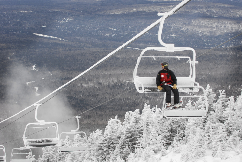A Boston investment firm has made an offer to buy Saddleback Mountain, shown here in this 2008 file photo, pledging to invest $25 - $30 million after the sale to help restart the Rangeley ski resort, which has been closed since 2015.