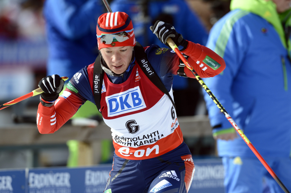 Olga Zaitseva, a silver medalist in the biathlon relay at the 2014 Sochi Games, is appealing her recent disqualification from that event and her lifetime Olympic ban.