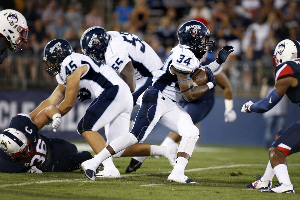 Sophomore running back Josh Mack reportedly plans to leave Maine to rise a level and join an FBS team.