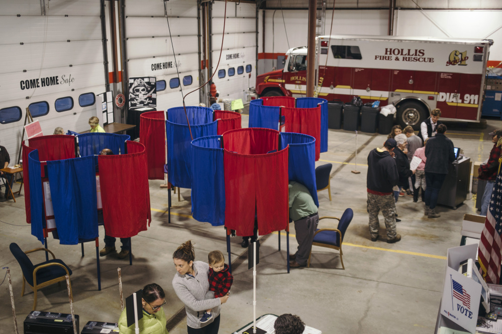 Hollis residents cast their ballots Nov. 7. Maine elections are notable for how well they are run, and Maine Secretary of State Matthew Dunlap is overstating the case when he claims that petitioners are disrupting the operation of local polling places.