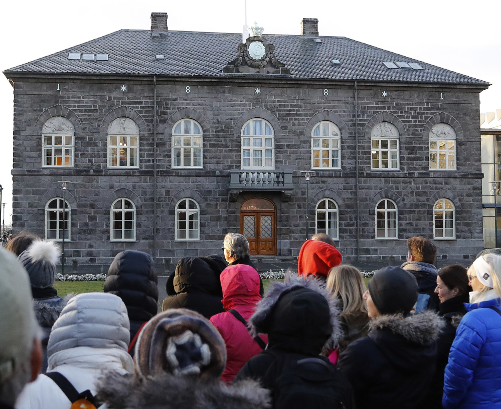 The Icelandic parliament, housed in the building above in Reykjavik, passed a law in June that requires companies to prove that their pay practices don't discriminate against women.
