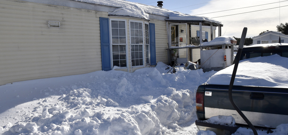 Fire victim William Lashon lived in this mobile home at 54 Harvey's Mobile Home Park in Skowhegan.