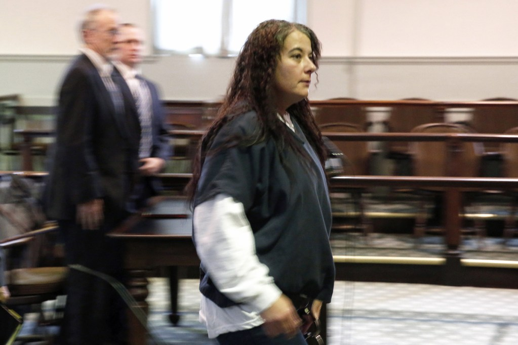Shawna Gatto leaves Lincoln County Superior Court on Jan. 12 after pleading not guilty to a charge of depraved indifference murder in connection with the death of 4-year-old Kendall Chick.