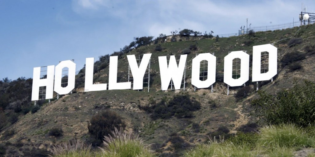 A study suggests building a replica of the world-famous Hollywood sign on the other side of the hill in Los Angeles.