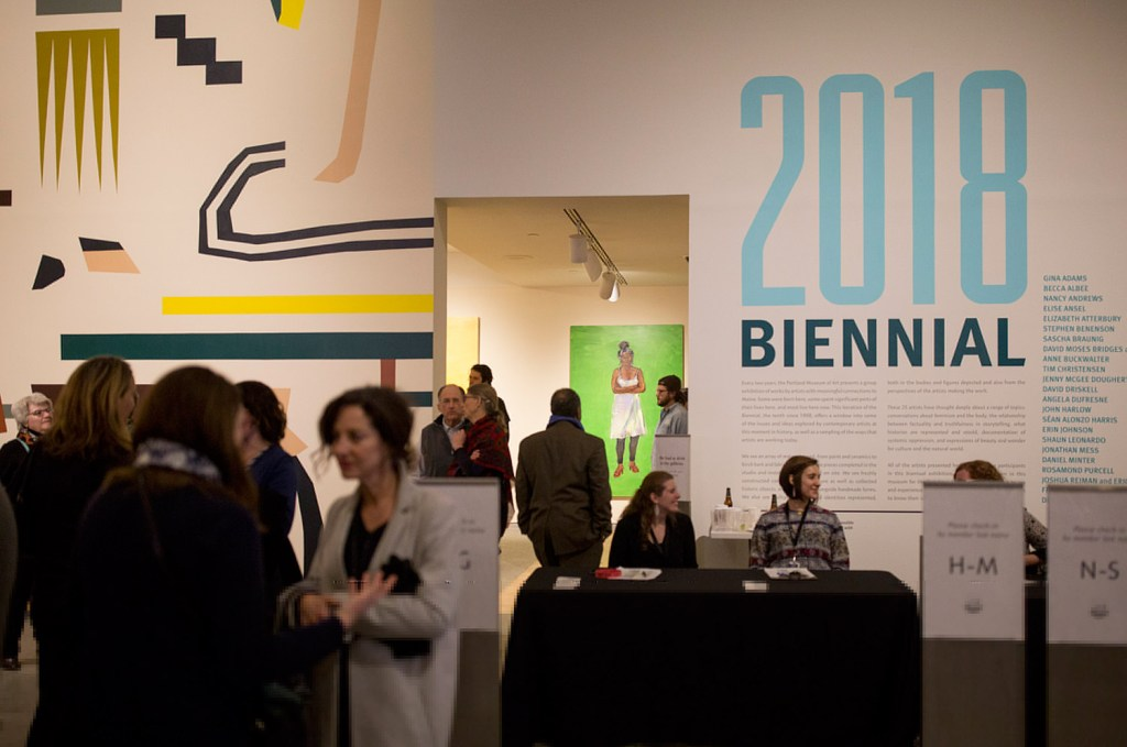 The Portland Museum of Art Biennial 2018 opening party was held on Thursday night. The exhibit features painting, photography, sculpture, quilting and more.