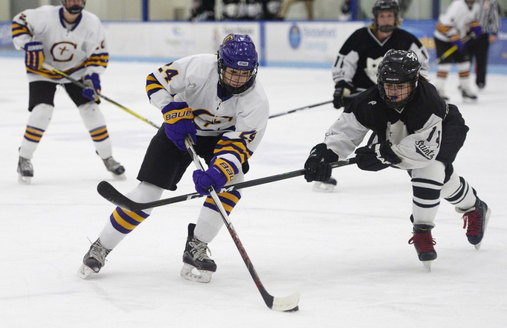 Abby Lamontagne has been masterful with the puck for Cheverus this season, scoring 41 goals and 30 assists in 20 games. But there's more to the Stags' offense: The team has six players who totaled at least 12 goals in a 19-1 season.