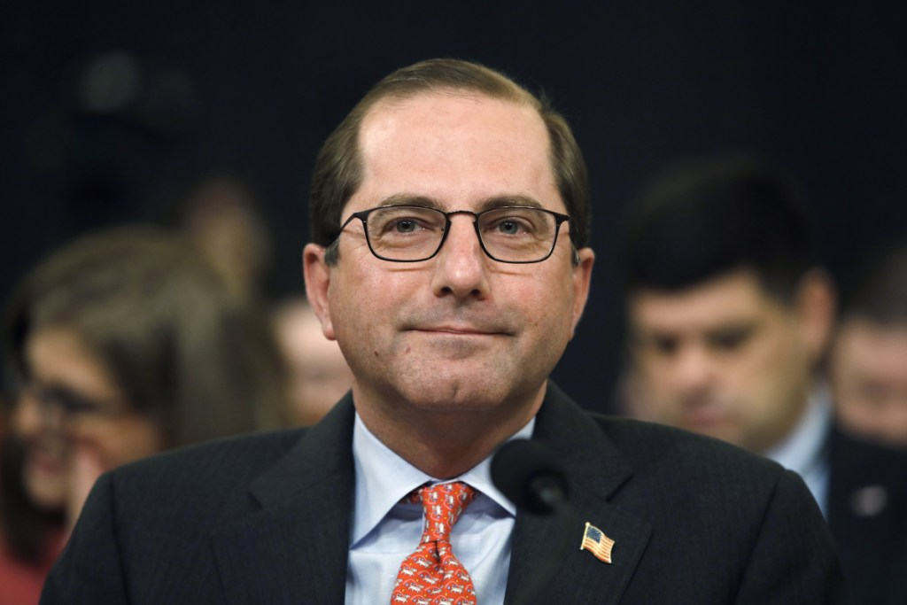 Health and Human Services Secretary Alex Azar attends a House Ways and Means Committee hearing on the FY19 budget on Feb. 14, on Capitol Hill in Washington.