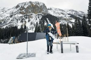 THIS PHOTO shows Billy Barr taking daily snow measurements at his handmade weather station outside of his remote cabin in Gothic, Colorado.