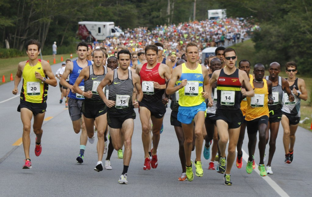 Four thousand race bibs are available Friday during online registration for the TD Beach to Beacon 10K road race in Cape Elizabeth. This year's race will be on Aug. 4. (Photo by Gregory Rec/Staff Photographer)