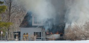 A HOME at 760 White Road in Bowdoinham was destroyed by a fire Tuesday morning.