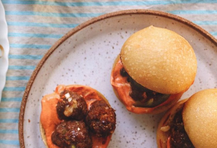 This recipe for Beef Bulgogi Meatballs makes 18 slider patties or 40 to 50 meatballs.