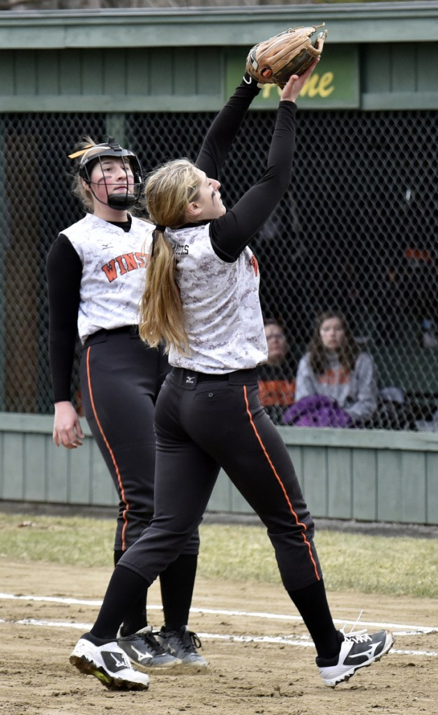 Winslow softball topples rival Waterville in opener