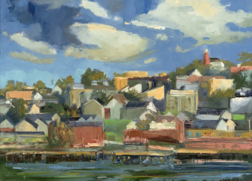 "Kate Emlen, ""Munjoy Hill,"" oil on linen, 26 by 36 inches."