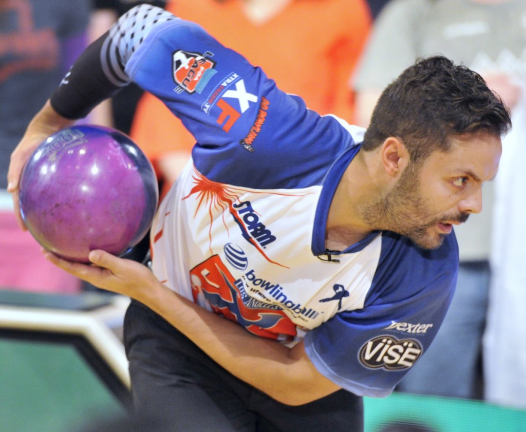 "Jason Belmonte of Australia impresses the crowd by using his two-handed style. ""We players love coming up here. We feed off that energy,"" he said."