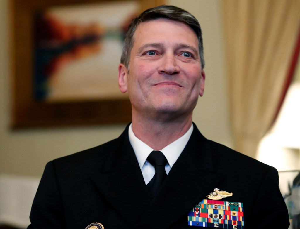 Navy Rear Adm. Ronny Jackson, M.D., President Trump's pick to lead Veterans Affairs, withdrew his nomination Thursday.