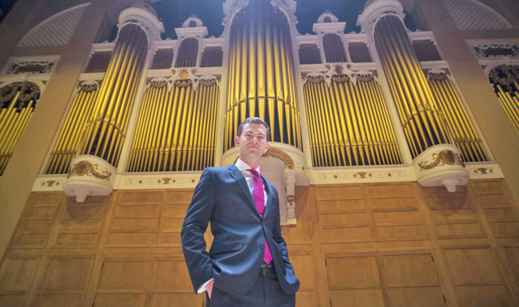 James Kennerley performed his first concert as Portland's municipal organist Wednesday.