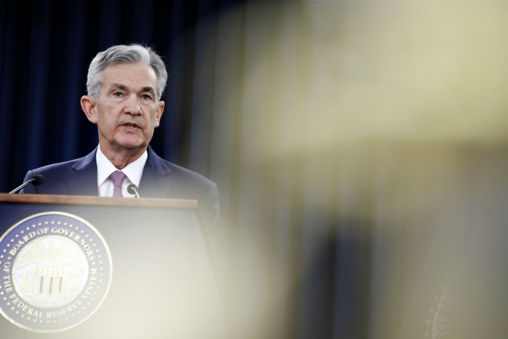Federal Reserve Chairman Jerome Powell has signaled that the central bank may step up its pace of rate increases because of solid economic growth and rising inflation.