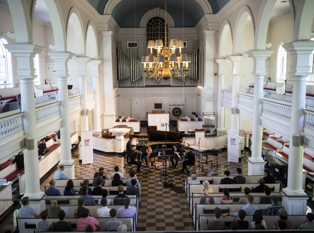 Lorimer Chapel is one of several venues where Atlantic Music Festival concerts will be heard through July 29.