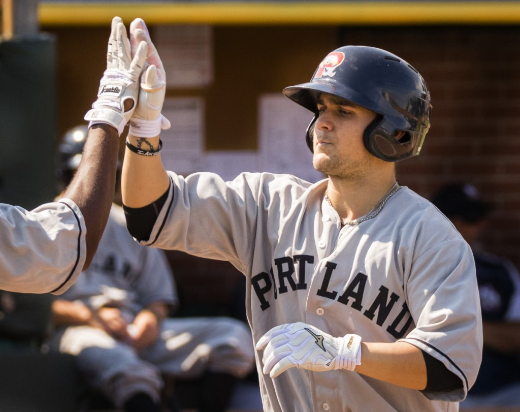 Michael Chavis was promoted to the Portland Sea Dogs after serving an 80-game suspension and playing four games for Class A Lowell.