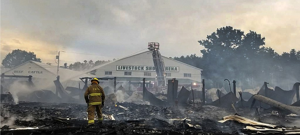 Fire that leveled 2 buildings at Fryeburg Fairgrounds is