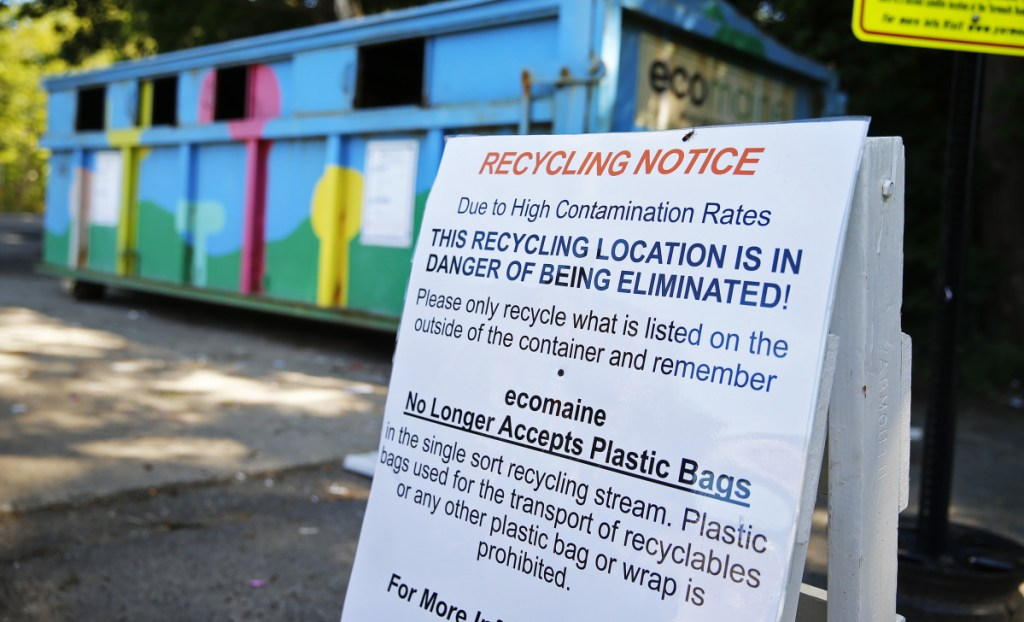 """Officials are using stepped-up education and enforcement to combat what experts call """"wish-cycling"""": putting items in the bin that residents think should be recycled, even if they aren't on the list of what's allowed."""