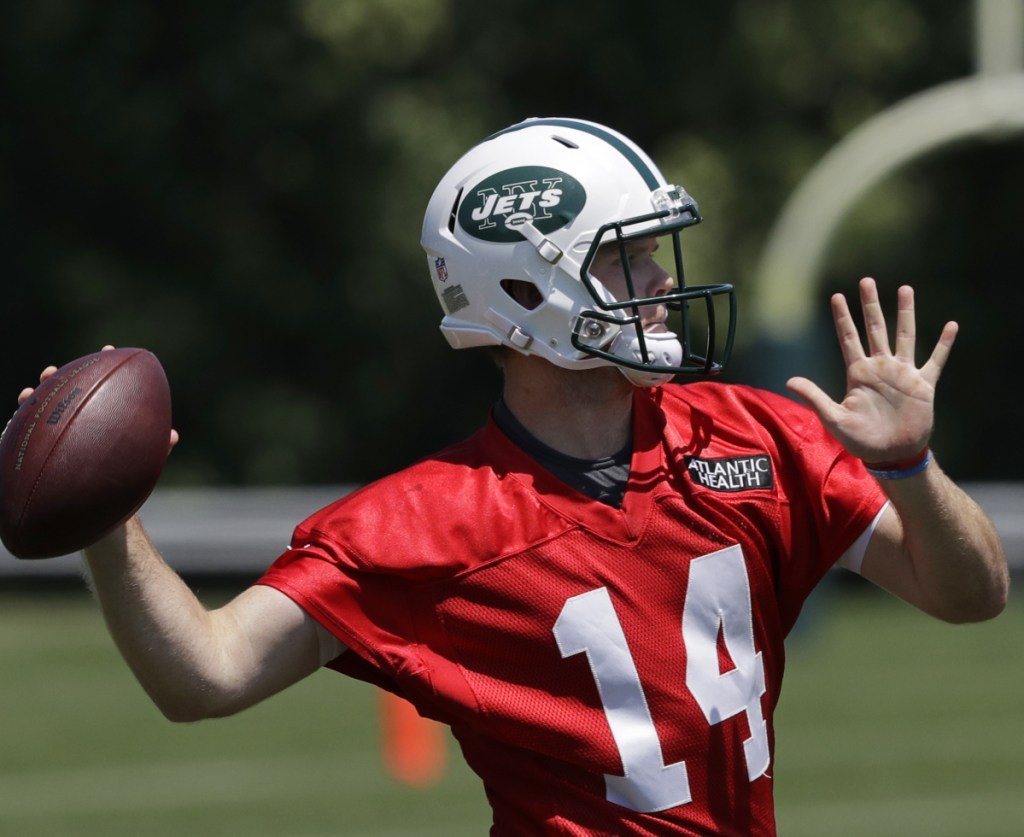 Quarterback Sam Darnold was a holdout on the first day of camp for the New York Jets – the holdup on a deal apparently involves contract language.