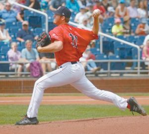 PORTLAND SEA DOGS Teddy Stankiewicz allowed one unearned run in seven innings, but the Sea Dogs' bullpen gave up three runs in the ninth and four in the 10th to lose to Harrisburg 8-7 on Wednesday at Hadlock Field. DEREK DAVIS / PORTLAND PRESS HERALD