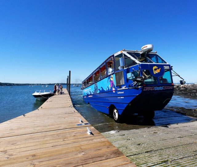 Maine Duck Tours M V Bufflehead Emerges From Casco Bay At East End Beach On Friday The Popular Portland Attraction Says Its Reviewing All Of Its Safety
